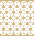 abstract gold and white geometric seamless pattern vector image vector image