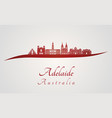 adelaide v2 skyline in red vector image vector image