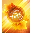 Autumn poster background vector image vector image