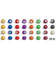 billiard pool balls collection vector image vector image
