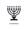 black big menorah isolated icon simple element vector image vector image