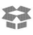black pixel open box icon vector image vector image