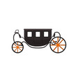 black vintage brougham carriage vector image