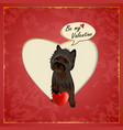 Cairn Valentine vector image