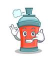 call me aerosol spray can character cartoon vector image vector image