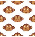 cartoon animal monkey party masks holiday vector image
