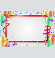 celebration background with colorful confetti vector image vector image