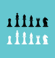 chess icons collection design elements collection vector image vector image