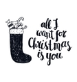 Christmas winter lettering greeting quote vector image
