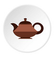 coffee kettle with big handle icon flat style vector image