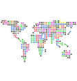 color dots earth vector image