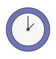 colorful circle wall clock time object vector image