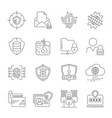 cyber security information and network protection vector image