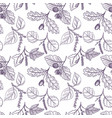 drawing seamless pattern vector image vector image