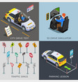 driving test design concept vector image