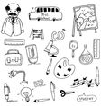 Element education for student in doodle vector image vector image