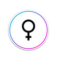 female gender symbol icon isolated venus symbol vector image