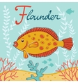 Flounder vector image vector image