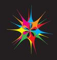 flower rainbow vector image vector image