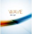 Flowing wave of blending colors vector image