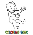 Funny smiling baby vector image vector image