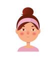 Girl icon woman avatar face icon cartoon style