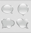 Glass Transparency Speech Bubble vector image