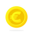 gold coin european union euro in flat style vector image