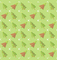 green seamless christmas tree pattern vector image