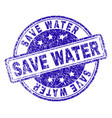 grunge textured save water stamp seal vector image vector image