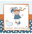 Happy Birthday girl vector image vector image