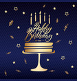 happy birthday greeting or invitation card with vector image vector image