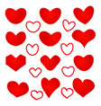 heart shaped pattern on white background vector image