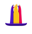 high jester hat with bells vector image vector image