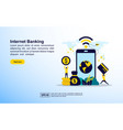 internet banking concept with icon and character vector image vector image