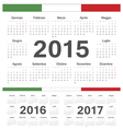 Italian circle calendars 2015 2016 2017 vector image vector image