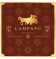 lampang thailand carriage thai design red backgrou vector image
