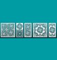 laser cut pamels template set abstract geometric
