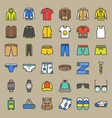 Male clothes and accessories filled outline icon