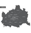 map vienna district vector image vector image