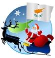 Merry Christmas Cyprus vector image vector image