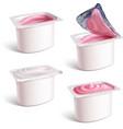 milk yogurt vector image vector image