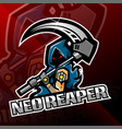 neo reaper logo mascot design vector image vector image