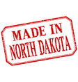 north dakota - made in red vintage isolated label vector image vector image