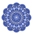ornamental mandala floral oriental design blue vector image