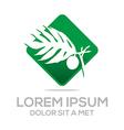 palm tree green natural symbol vector image