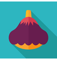 Pattypan squash flat icon Vegetable vector image vector image