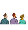 people stand back vector image vector image
