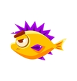 Pissed Off Yellow Fantastic Aquarium Tropical Fish vector image vector image