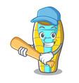 playing baseball sleeping bad character cartoon vector image